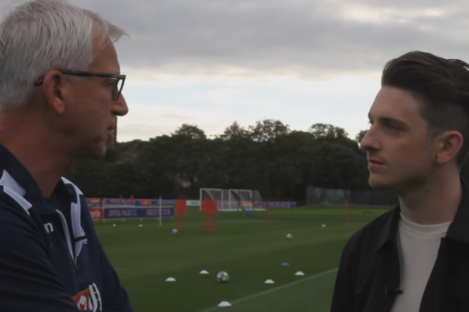 Crystal Palace manager Alan Pardew speaking on RTÉ documentary