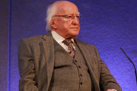 Uachtarán na hÉireann Michael D Higgins.