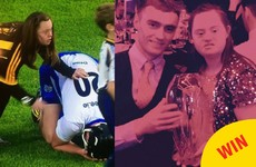 The Waterford hurler and the Kilkenny fan who consoled him were reunited last night