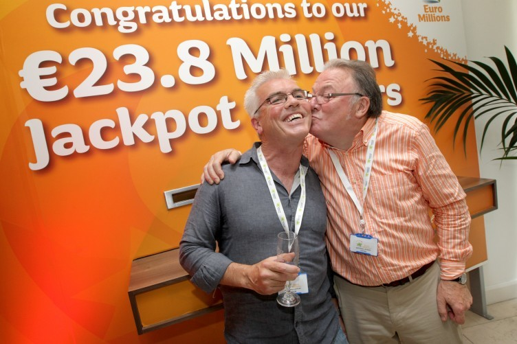 Dublin Bus Euromillions winners celebrate scoring the jackpot on 7 july.
