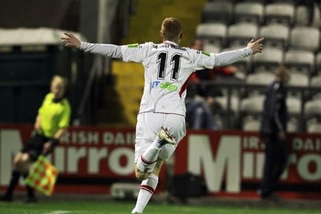 Goal-den boy: Doyle scored 20 league goals for Sligo last season.