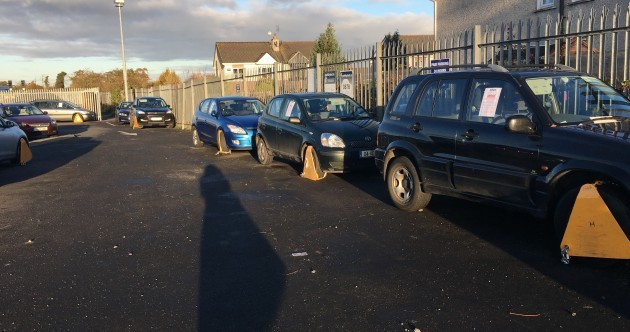 "Local anger as row of cars clamped at ""chock-a-block"" train station"
