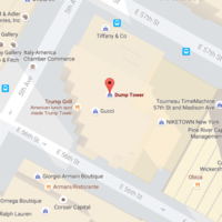 Someone has renamed Trump Tower 'Dump Tower' on Google Maps