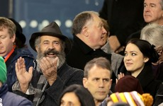 Mel Gibson was spotted watching Ireland beat Australia at the Aviva yesterday