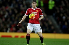 In from the cold? Schweinsteiger makes United's bench for the first time this season