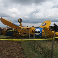 Irishman and daughter unhurt after vintage airplane they were piloting crashes in Kenya