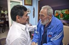 Maradona hails late Fidel Castro as 'second father'