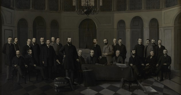 A copy of this painting from the House of Commons now hangs in Leinster House