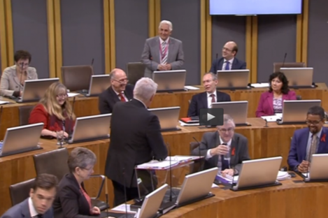 Ukip assembly member David Rowlands asks First Minister Carwyn Jones.