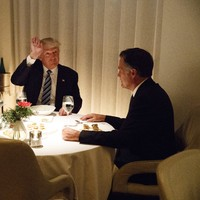 Mitt Romney had a cosy dinner last night with Trump, the man he labelled a fraud