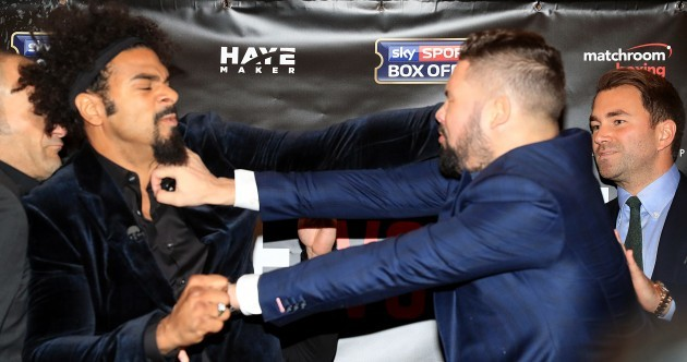 'You're a bellend!' David Haye and Tony Bellew are already giving their fight the hard sell