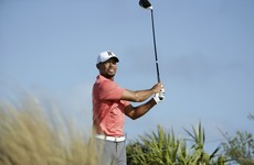 Returning Tiger soars with two eagles in pro-am