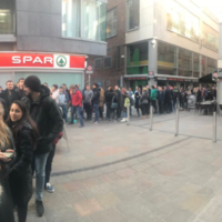The queue for free BBQ in Dublin yesterday was absolutely bonkers