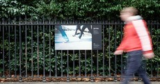 10 stark images of homeless life are currently adorning the railings of St Stephen's Green