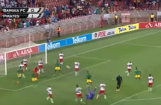 They don't come much better than this goalkeeper's injury-time bicycle kick