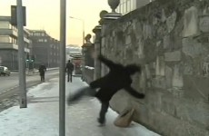 Remember the man who slipped on the ice? Here's what happened next...