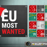 Europol has released a grisly Advent calendar of their most wanted criminals