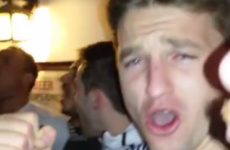 Beauden Barrett led the All Blacks in a powerful rendition of Ireland's Call in a German bar