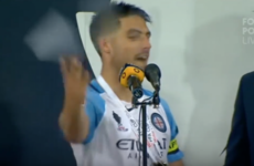 'And f**k off!' Captain's winning speech gets a little bit lost in translation