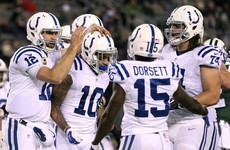 Colts blow out the Jets to take first place in the AFC South