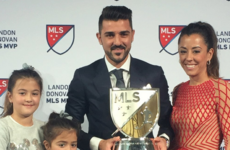 David Villa's stellar season rewarded with MVP crown