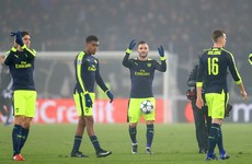 Perez hat-trick sees Arsenal through to knockout stages as group winners