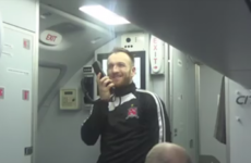 Two hardcore Dundalk fans got a nice surprise on the team's flight to Israel