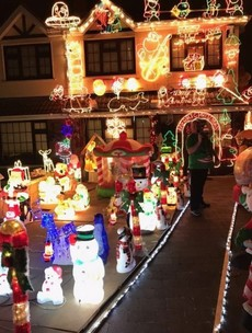 This Dublin man pulled out all the stops with his Christmas lights this year