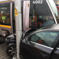 Woman taken to hospital after Luas collision at midday