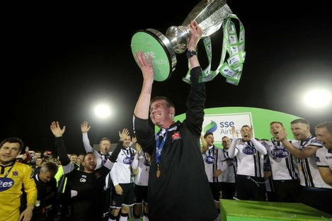 Kenny and Dundalk: back-to-back league champions.