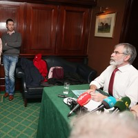Son of Brian Stack confronts Gerry Adams over murder of his father