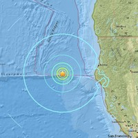 6.5 magnitude earthquake strikes off the coast of northern California