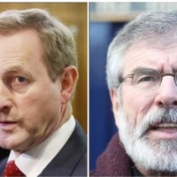 Enda Kenny and Gerry Adams face off over blacked-out van driver