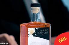 A team on The Apprentice got relentlessly slagged for making 'orange, racist gin' last night