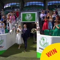 The groom organised a wedding in Tallaght Stadium on Don't Tell The Bride last night