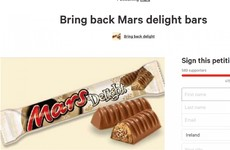There's a petition to bring the Mars Delight back to Ireland
