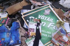 Leaflets from Sinn Féin's environment spokesperson dumped in Kildare wood