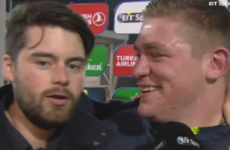 'I've never seen him before in my life:' Tadhg Furlong laughs off bizarre interruption to his post-match interview