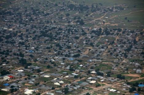 An aerial view of Maiduguri, Nigeria