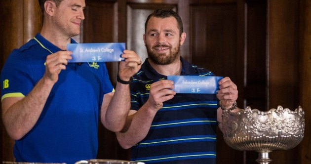 Jamie Heaslip and Cian Healy made the draws for the 2017 Leinster Schools Cup this evening