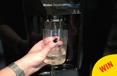 This gal turned her water dispenser into a wine dispenser, and everyone is in awe