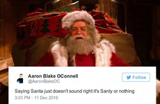 'Santy' is the correct name for Santa Claus and we should all just agree this Christmas