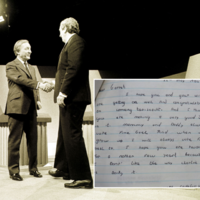 A Donegal child wrote a letter to Garret FitzGerald in 1984 having a sly dig at Charlie Haughey