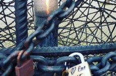 The 'love lock' trend has taken over the Amnesty human rights monument in Dublin