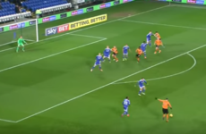 Irish full-back Matt Doherty scored with a super long-range effort last night