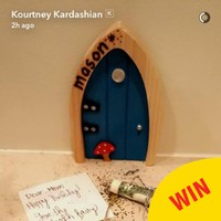 Kourtney Kardashian gave a shout out to that brilliant Irish fairy door company on Snapchat