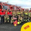 Ireland's youngest garda met these firefighters on a tour of Dublin Airport