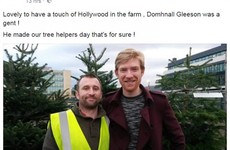 Domhnall Gleeson stopped into a Christmas tree farm in Carrickmines yesterday... it's The Dredge