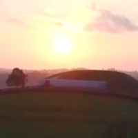These bird's-eye views of Newgrange from above are jaw-dropping