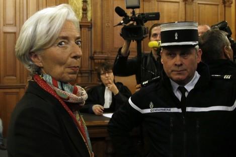 Christine Lagarde at the Paris court last week